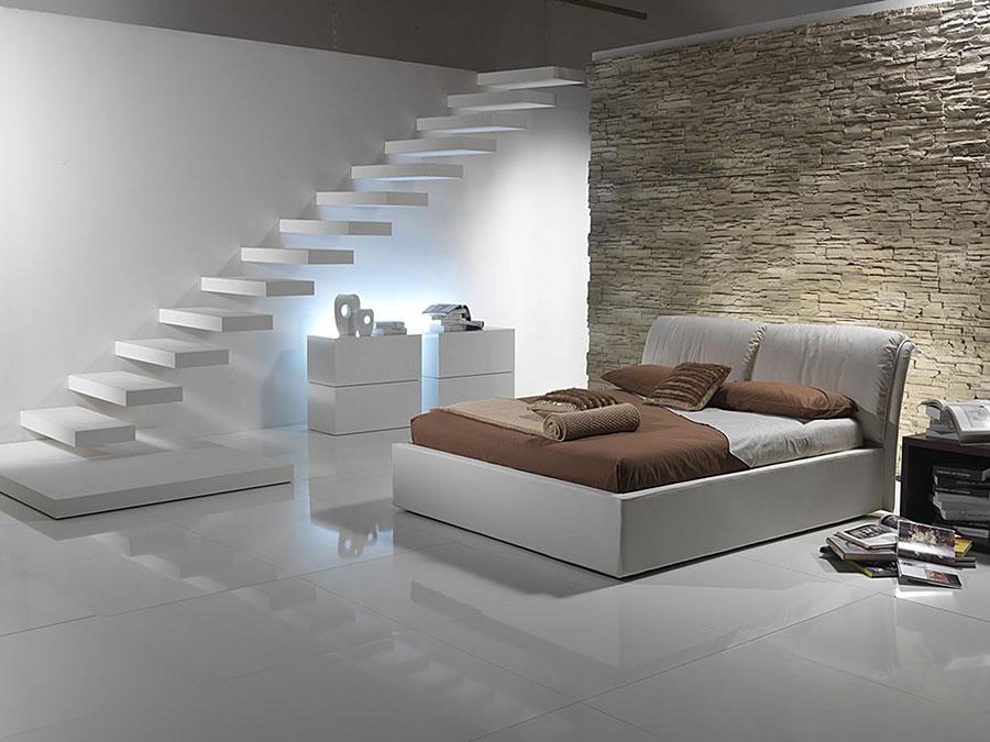 Idea per rivestire le pareti di una camera da letto moderna in pietra n.02