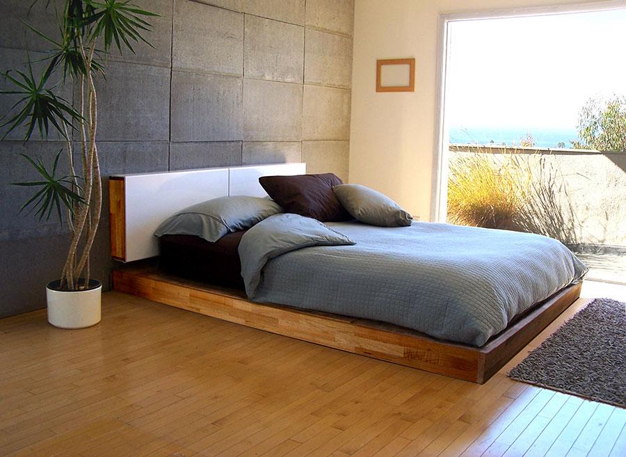 Idea per rivestire le pareti di una camera da letto moderna in pietra n.04