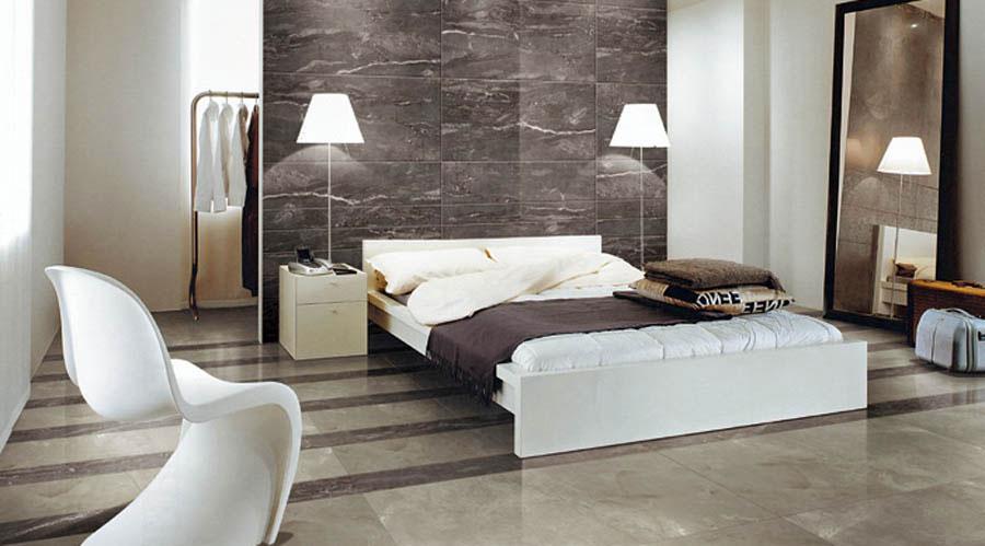 pareti rivestite in pietra per camere da letto classiche o
