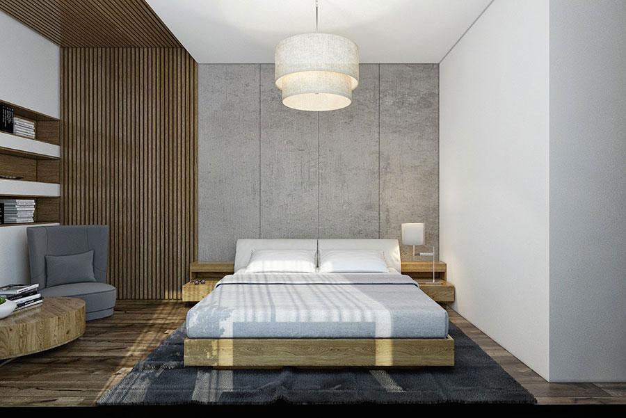 Idea per rivestire le pareti di una camera da letto moderna in pietra n.07