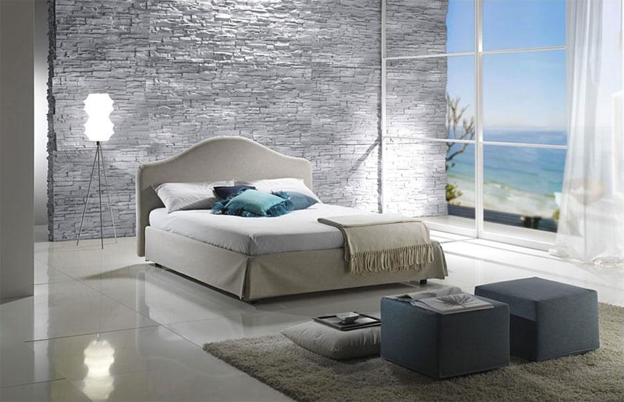 Idea per rivestire le pareti di una camera da letto moderna in pietra n.08