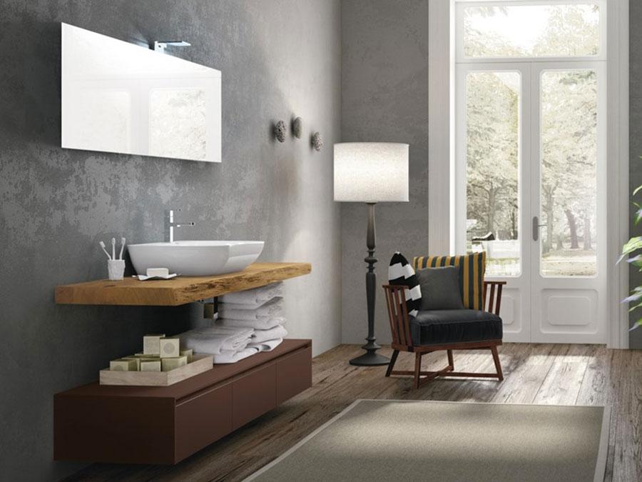 Modello di piano per lavabo in legno massello n.04