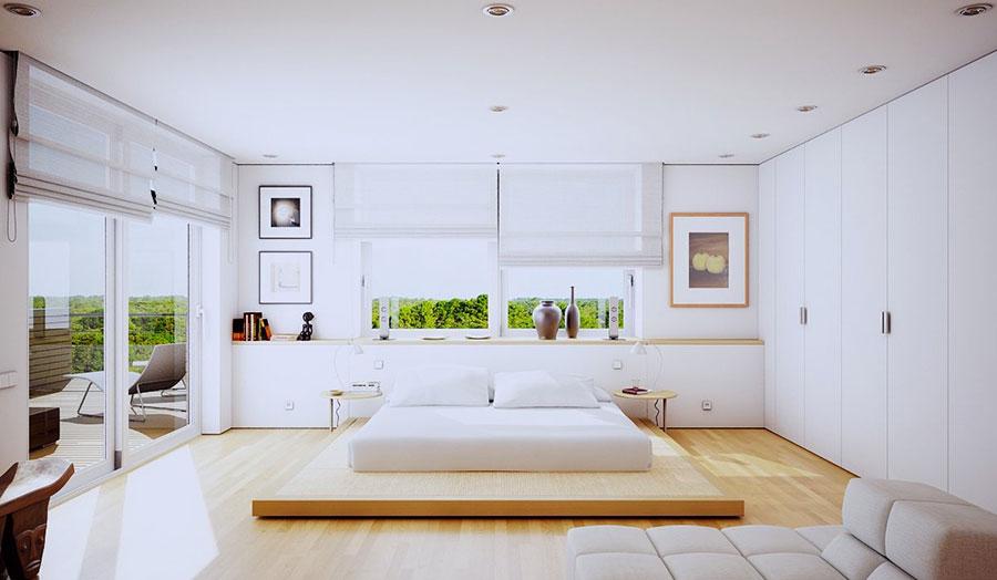Arredamento Minimalista Camera Da Letto : Camera letto moderna con arredamento minimalista u foto stock