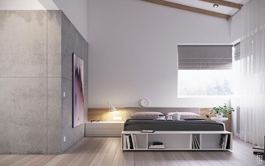 Idea di arredamento minimal essenziale per la camera da letto n.08