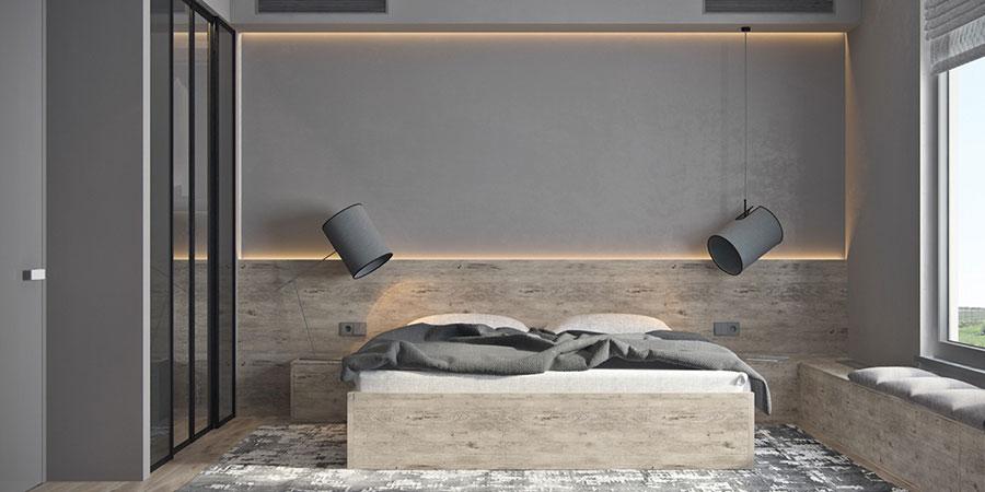 Idea di arredamento minimal essenziale per la camera da letto n.09