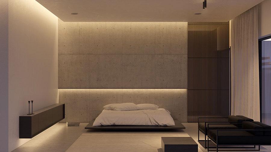 Idea di arredamento minimal essenziale per la camera da letto n.10