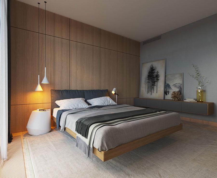 Idea di arredamento minimal essenziale per la camera da letto n.13