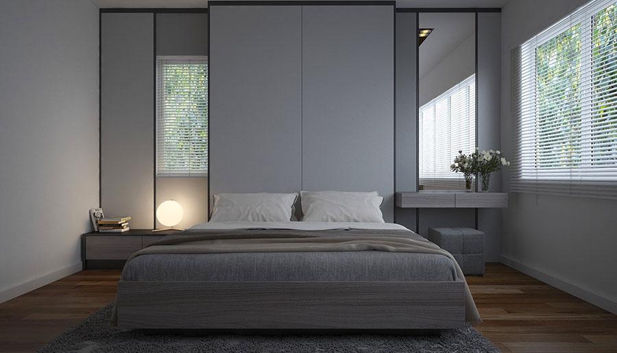 Idea di arredamento minimal essenziale per la camera da letto n.20