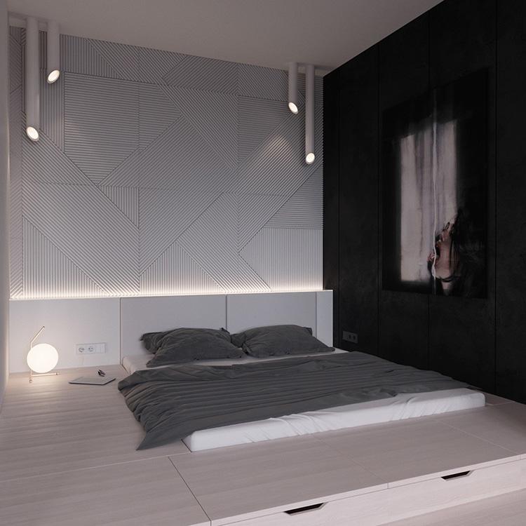 Idea di arredamento minimal essenziale per la camera da letto n.21