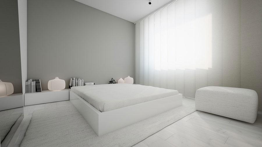 Idea di arredamento minimal essenziale per la camera da letto n.22