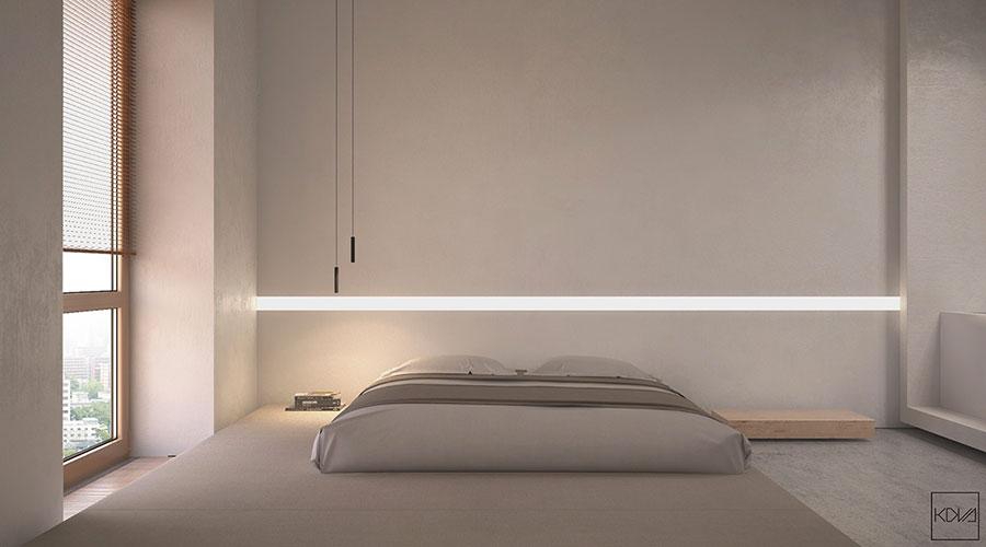 Idea di arredamento minimal essenziale per la camera da letto n.23