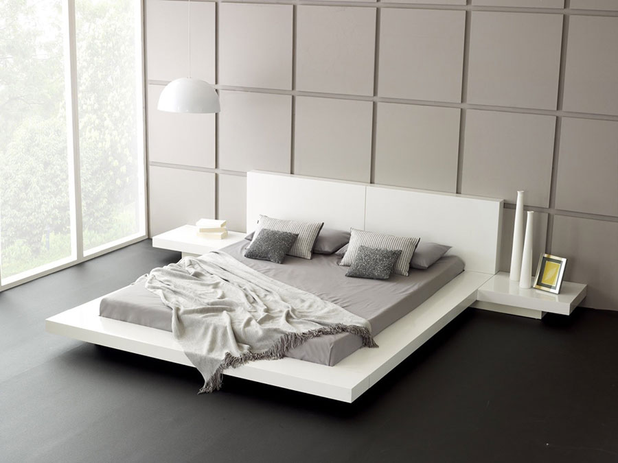 Idea di arredamento minimal essenziale per la camera da letto n.24