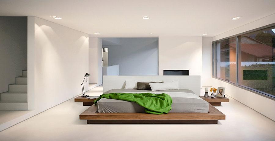 Idea di arredamento minimal essenziale per la camera da letto n.28