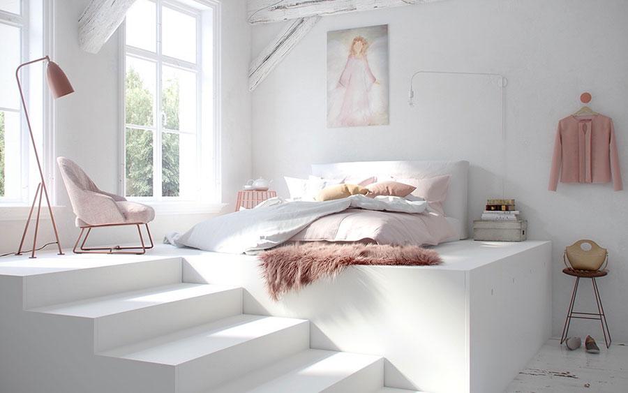 Idea di arredamento minimal essenziale per la camera da letto n.29