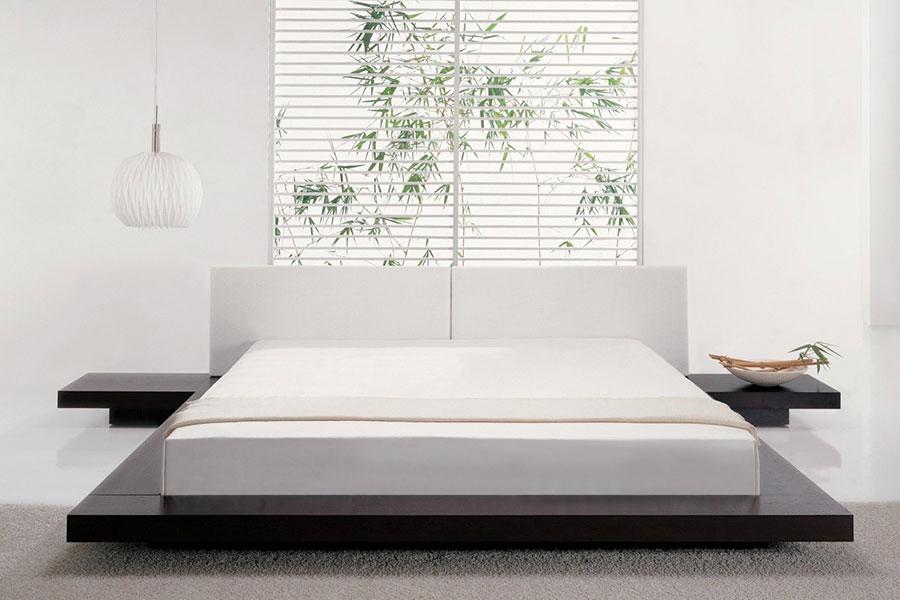 Idea di arredamento minimal essenziale per la camera da letto n.30