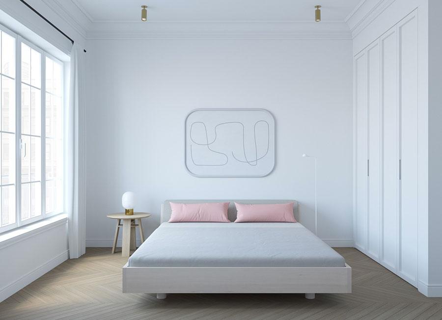 Idea di arredamento minimal per la camera da letto n.35