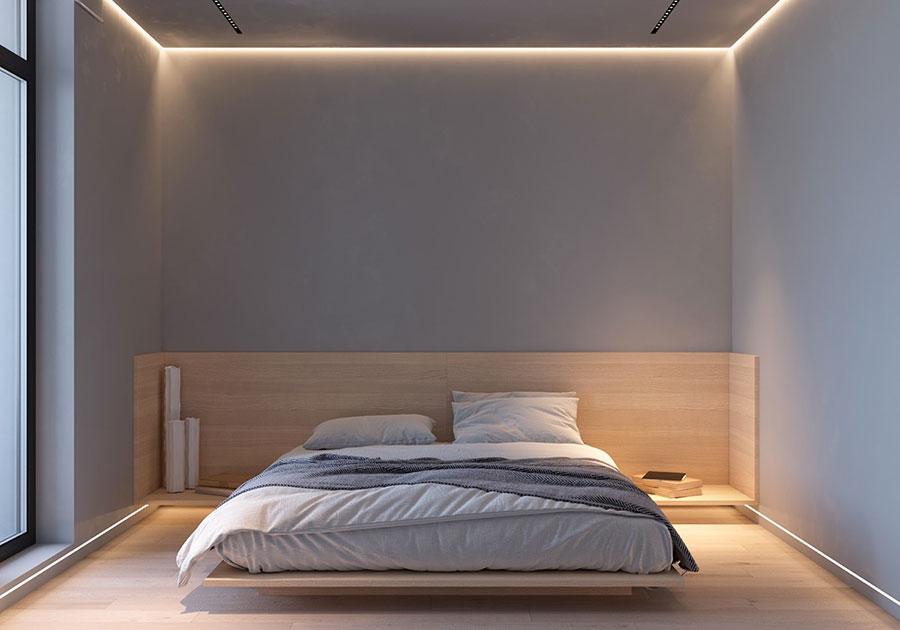 Idea di arredamento minimal per la camera da letto n.36