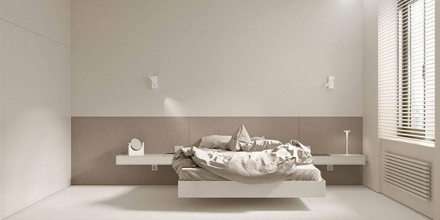 Idea di arredamento minimal per la camera da letto n.39