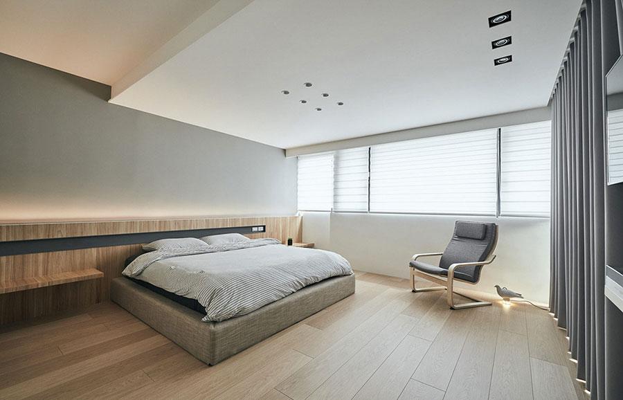 Idea di arredamento minimal per la camera da letto n.40
