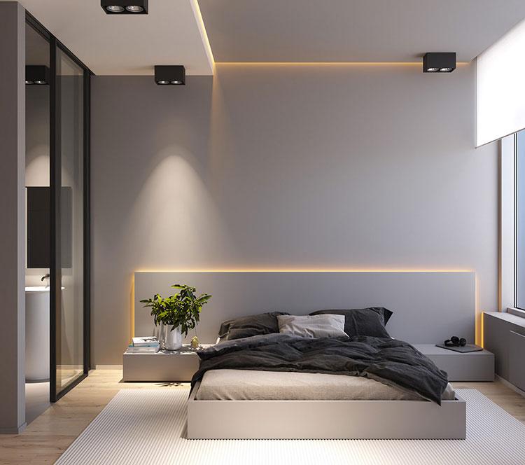 Idea di arredamento minimal per la camera da letto n.41