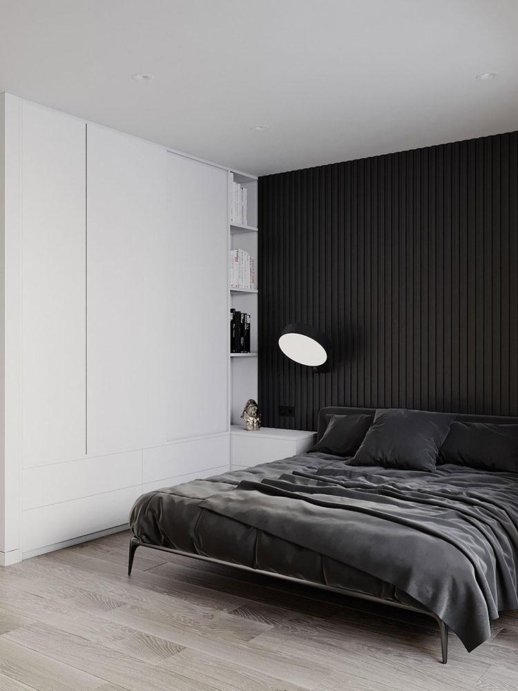 Idea di arredamento minimal per la camera da letto n.42