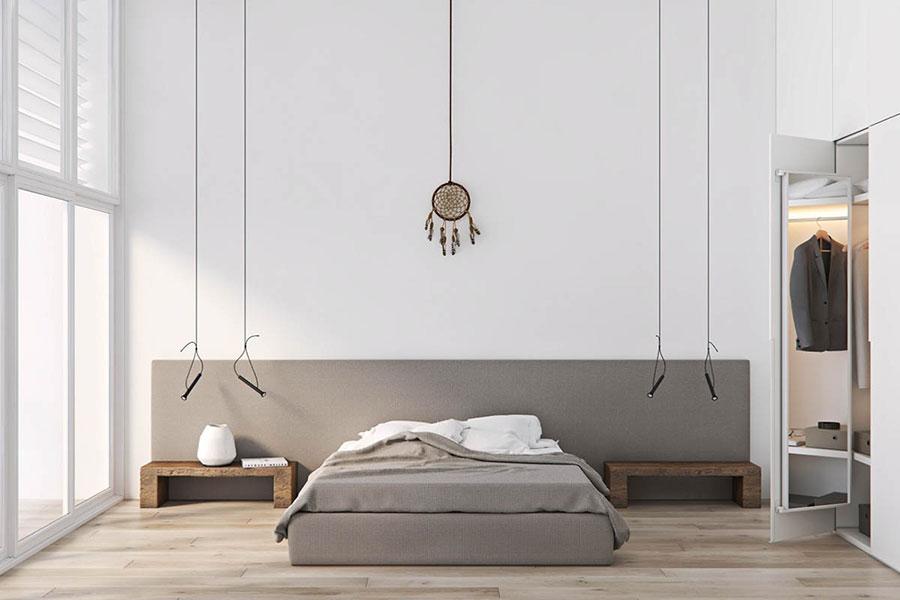 Idea di arredamento minimal per la camera da letto n.44