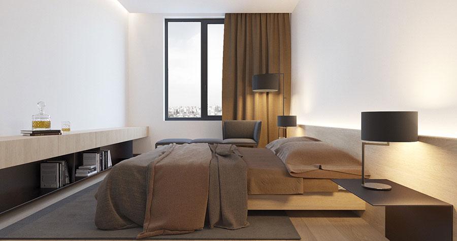Idea di arredamento minimal per la camera da letto n.45