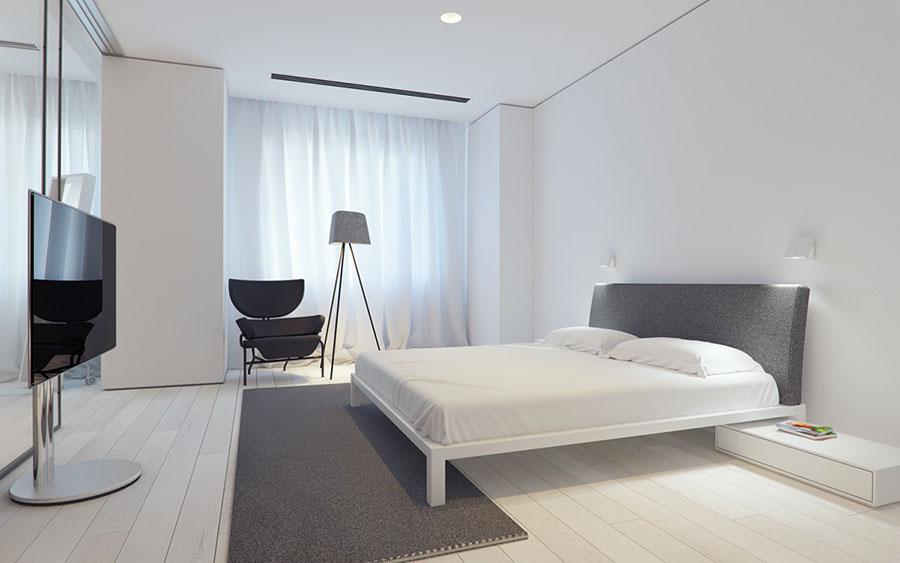 Idea di arredamento minimal per la camera da letto n.47