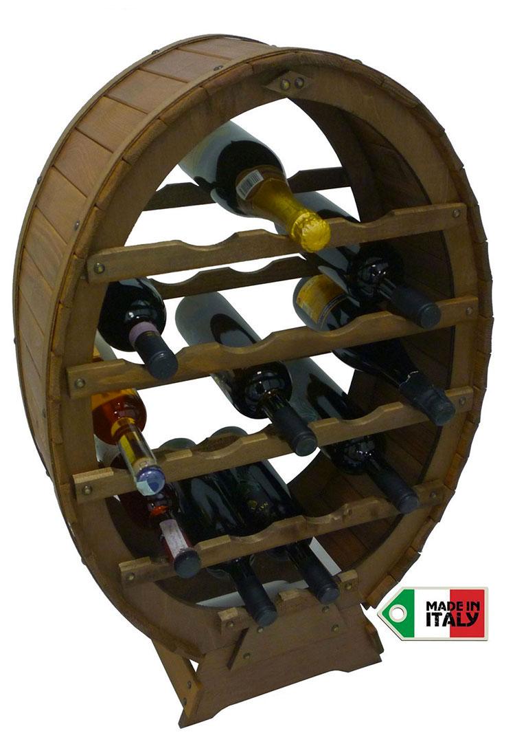 Modello di cantinetta vino realizzata in legno n.02