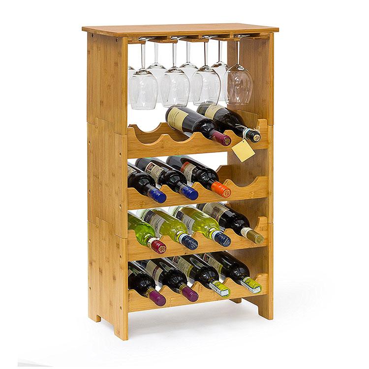 Modello di cantinetta vino realizzata in legno n.03