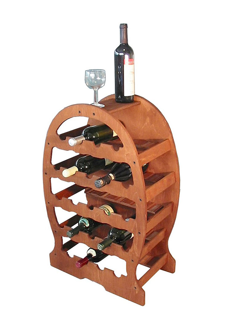 Modello di cantinetta vino realizzata in legno n.04