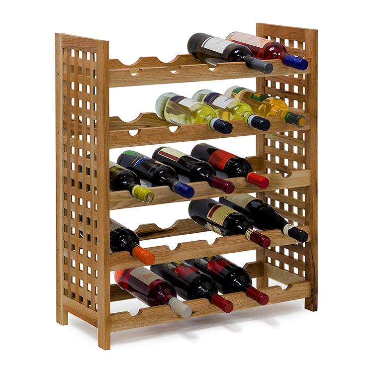 Modello di cantinetta vino realizzata in legno n.05