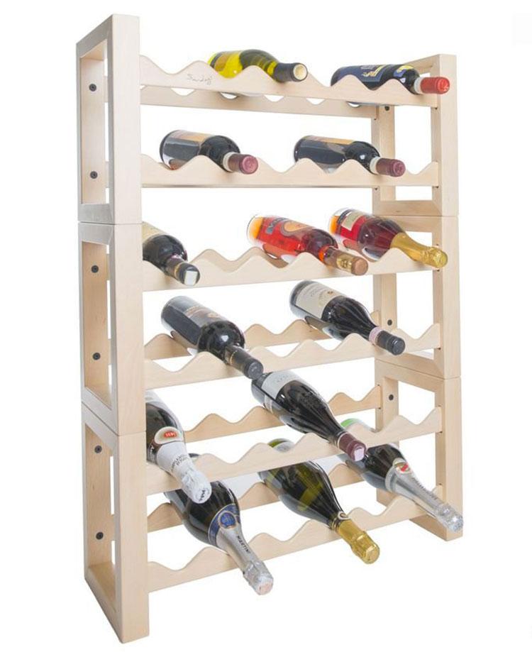 Modello di cantinetta vino realizzata in legno n.06