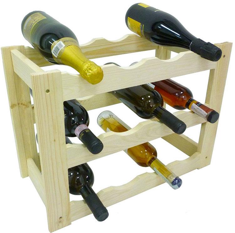 Modello di cantinetta vino realizzata in legno n.08