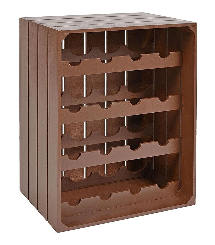 Modello di cantinetta vino realizzata in legno n.10