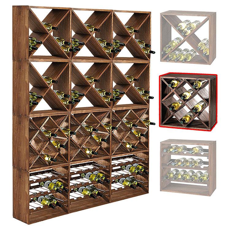 Modello di cantinetta vino realizzata in legno n.11
