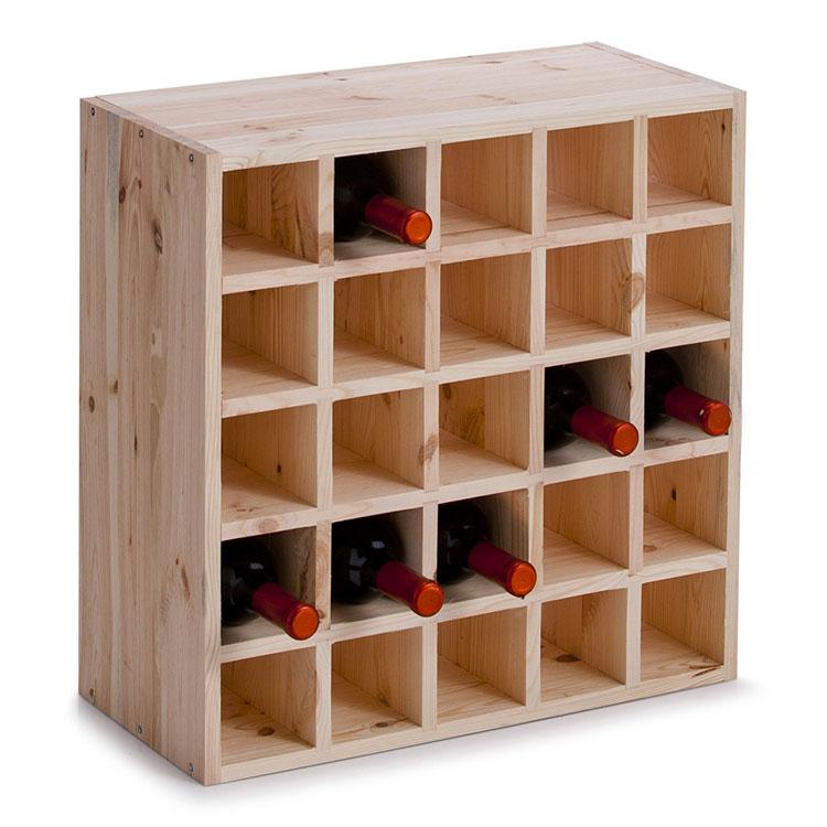 Modello di cantinetta vino realizzata in legno n.12