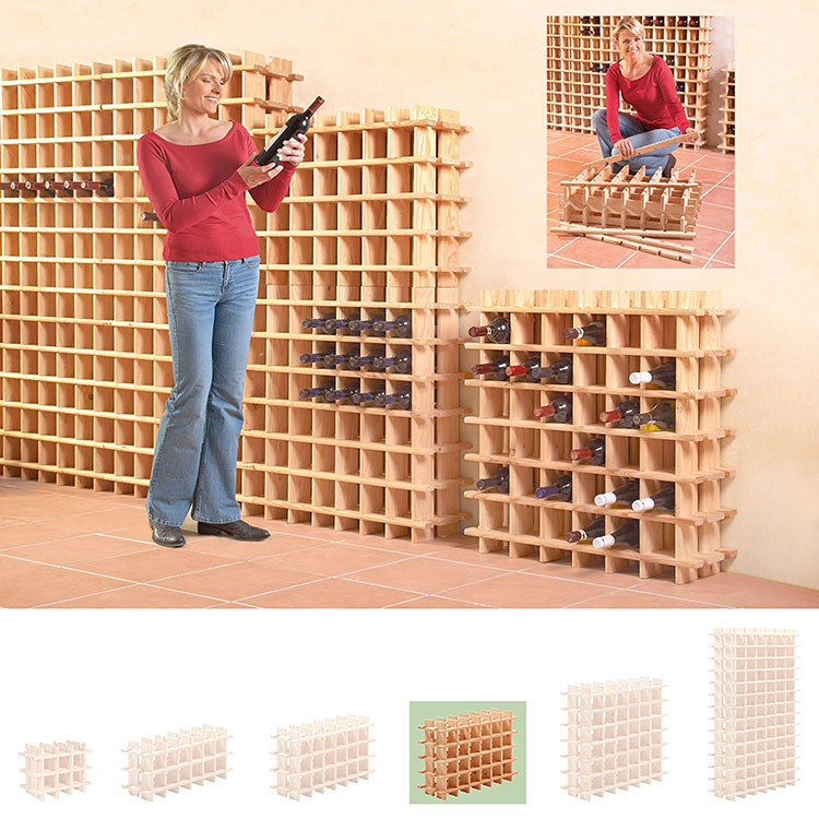 Modello di cantinetta vino realizzata in legno n.15