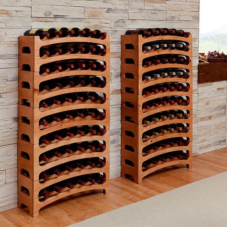 Modello di cantinetta vino realizzata in legno n.16