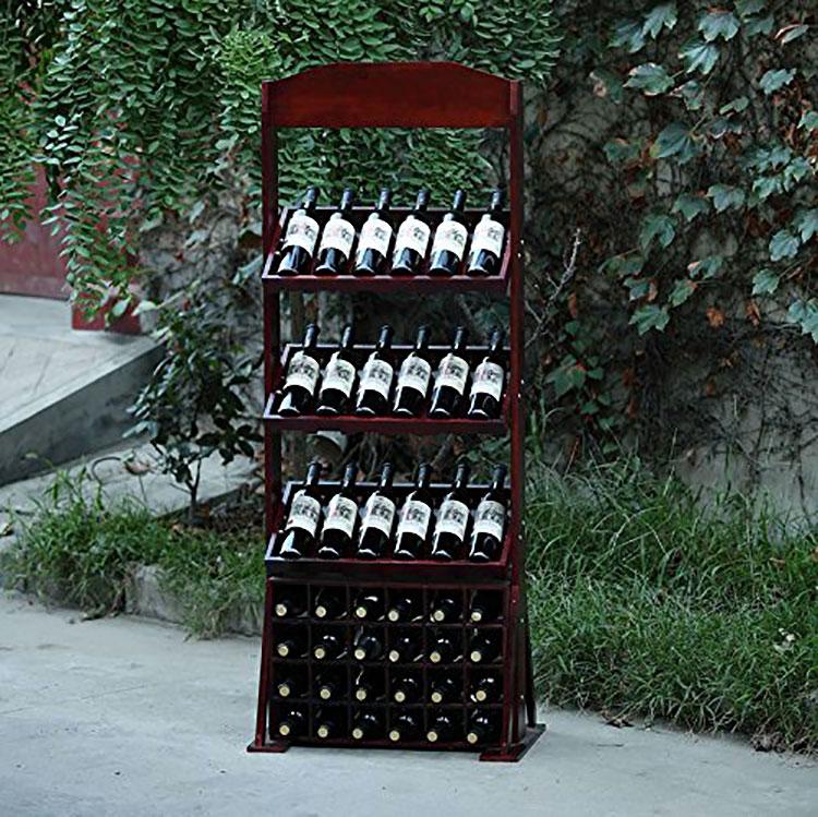 Modello di cantinetta vino realizzata in legno n.18