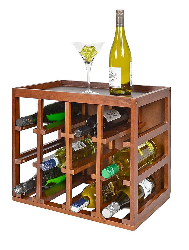 Modello di cantinetta vino realizzata in legno n.20