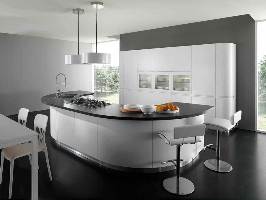 Modello di cucina circolare di design n.01