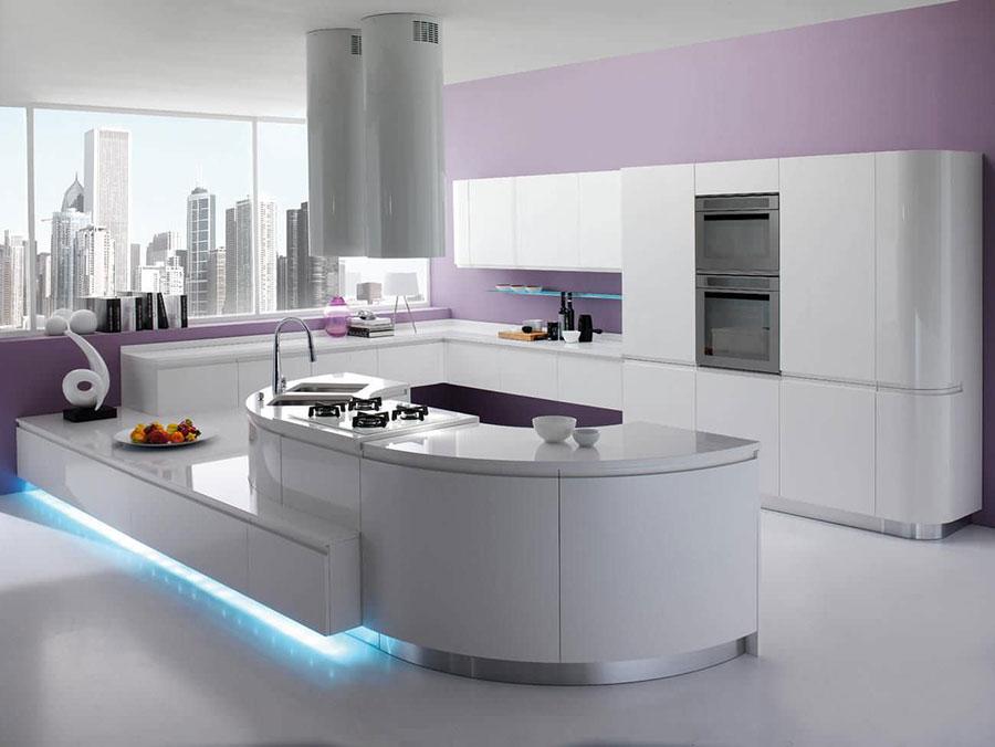 Modello di cucina circolare di design n.02
