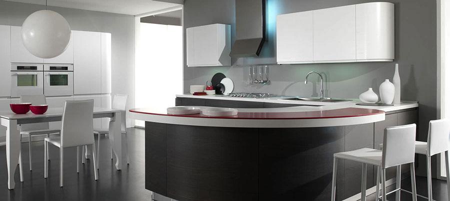 Modello di cucina circolare di design n.03
