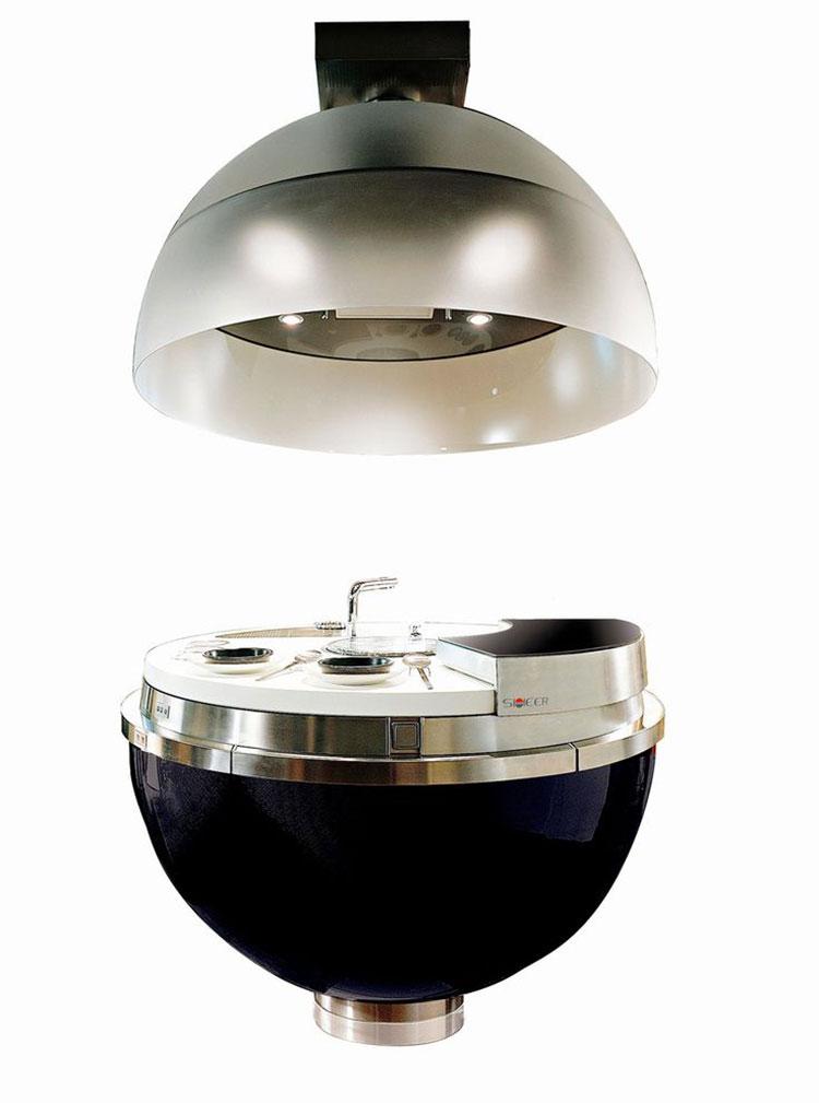 Modello di cucina circolare di design n.05
