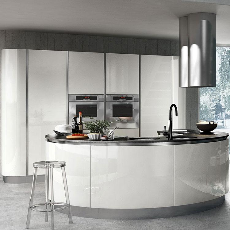 Modello di cucina circolare di design n.06