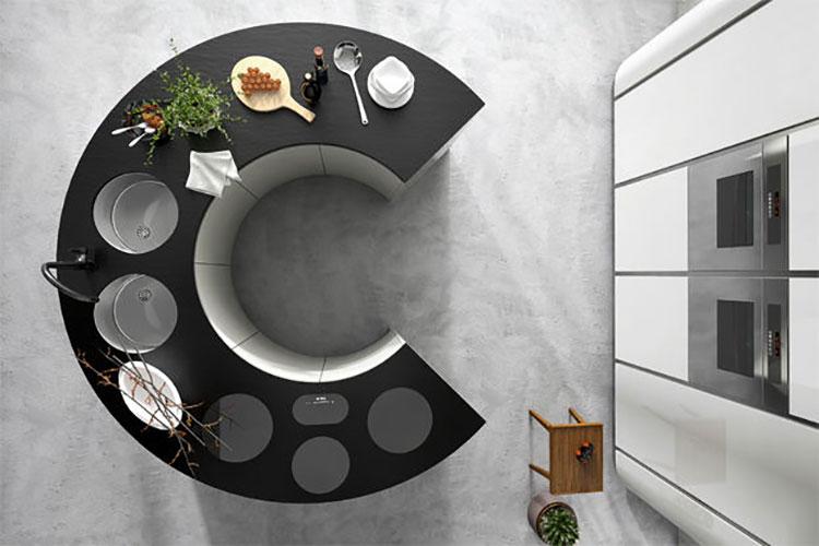 Modello di cucina circolare di design n.07
