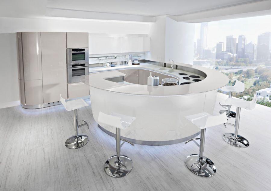 Cucine circolari 25 modelli dal design unico for Cocina con vitroceramica