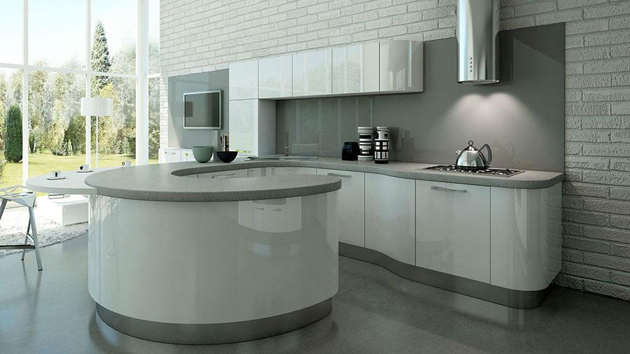 Modello di cucina circolare di design n.10