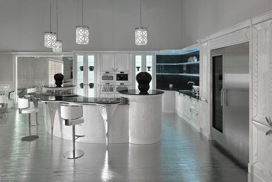 Modello di cucina circolare di design n.13